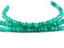 Бусины рондели огранённые, камень-хризопраз цвет-изумрудно-зеленый