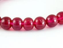 Бусина 6 мм. круглая полированная, шпинель цвет красно-малиновый