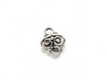 Коннектор серебряный ручной работы малый, для создания ювелирных украшений Handmade