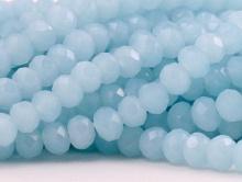 Нить бусин из стекла, рондель 4,2 мм./нить 20 см. Цвет нежный голубой