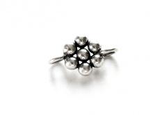 """Коннектор серебряный ручной работы """"гранулированный цветок"""", для создания ювелирных украшений Handmade,"""