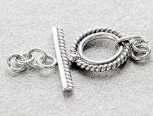 Замочек-тогл серебряный ручной работы, для создания украшений из серебра,