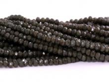 Рондели мелкие-бусины стеклянные огранённые, размер: 2,5х1.6 мм. (+- 0,1 мм.). вн.отв. 0,5 мм. Цвет бусин-тёмно-коричневый, непрозрачный без напыления,