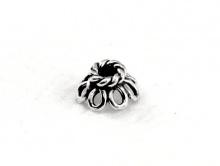 Шапочка мелкая для бусин серебряная, воздушная, размер в/ш-3.5х6 мм. вн. отв. 2 мм. Материал-серебро 925 пробы (92.5%)