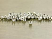 Бусины родированные распорка серебро 2 мм. уп/120 шт.