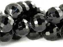 Бусина из стекла, круглая 8 мм./за 10 шт. Цвет черный.