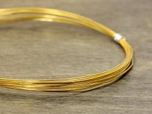 Проволока позолоченная из стерлингового серебра (92.5%)  для ювелирных украшений.