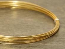 Проволока позолоченная из серебра (92.5%) для ювелирных украшений. Состав-cеребро 925 пробы (92.5 %)+покрытие золото 24 kr.