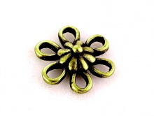 "Коннектор ""цветок"" античная бронза 11,5х3 мм."