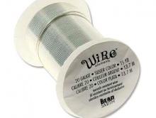 Проволока полужесткая Craft Wire Tarnish resistante для творческих работ. Проволока медная отлакированная-нетускнеющая, цвет серебро