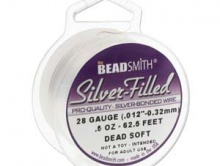 Проволока мягкая Silver-Filled dead soft  0.32 мм./19.05 м. (28 ga/62.5 футов).