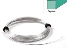 Проволока квадратная полужесткая серебряная Sterling Silver (0.51 мм.)