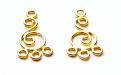 Подвески -люстры позолоченные из стерлинг. серебра на швензу, материал-серебро 925 пробы (92,5%)+покрытие золото 24 kr.,