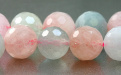 Бусина, форма-шарик круглый, камень натуральный- морганит (разновидность берилла). Цвет-полупрозрачный теплый розовый, нежный (2 тона),.,