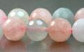 Бусина, форма-шарик круглый, камень натуральный- аквамарин (разновидность берилла). Цвет-полупрозрачный теплый голубой нежный