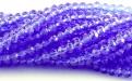 Рондели мелкие-бусины стеклянные огранённые, цвет бусин-прозрачный сиренево-голубой. размер: 3х2 мм.