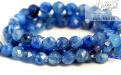 Нить бусин огранённых, форма: шарик, бусина из натурального камня-кианит,размер–3.5 (+-0.1) мм.внутреннее отверстие 0.6 мм.Цвет-сочный голубой с холодным оттенком,