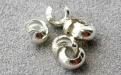 Товар-бусина на кримп серебряная 3 мм. используется для декоративного закрытия кримпа