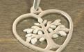 """Подвеска серебряная """"Сердце"""" для изготовления украшений. Размер подвески: -30х26х1.4мм."""