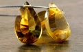 лепесток топаз золотой натуральный 18х11х7.5 мм