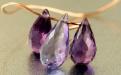 Удлинённый бриолет-бусина оранённая, камень александрит ограненный искусственно выращенный, средний размер-8.5х4.8 мм.
