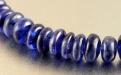 Бусина- полированная рондель для изготовления украшений Handmade. Камень природный: сапфир синий (корунд натуральный).