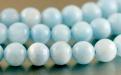 Бусина круглая-ларимар натуральный гладкий шар. Размер-6.5+-0,1 мм. внутреннее отверстие 1.0 мм. Цвет-красивый голубой тёплый, с характерным рисунком,