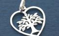 """Подвеска-кулон серебряная """"Дерево жизни"""", размер подвески: дл/шир/толщ-30х26х1.4мм. одна сторона подвески полированная с хорошим глянцем,"""