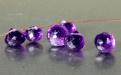 Камень натуральный-аметист ограненный, первосортный чистый, прозрачный. Форма-луковка. Цвет-насыщенный фиолетовый.