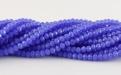 нить бусин ронделей мелких 3 мм. цвет непрозрачный сиренево-голубой