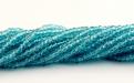 Цвет бусин-прозрачный голубой (морской волны). Цена за нить 40 см.