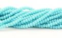 цвет бусин-непрозрачный нежно-голубой,  цена за нить 40 см./примерно 200 шт