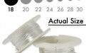 Серебряная мягкая проволока 1.02 мм. (18 ga.) Sterling Silver Dead Soft для ювелирных работ, из серебра 925 пробы.