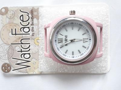 Кварцевые часы HARMI, цвет корпуса нежно-розовый, цыферблат белый с серебристой отделкой,