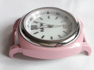 Кварцевые часы HARMI, цвет корпуса нежно-розовый, цыферблат белый с серебристой отделкой, диаметр 39.8 мм. общий размер -50 мм