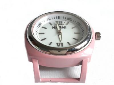 Кварцевые часы HARMI, цвет корпуса нежно-розовый, цыферблат белый с серебристой отделкой, диаметр 39.8 мм. общий размер с отверстиями под ремешок-50 мм