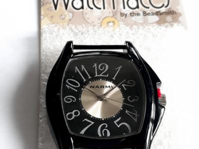 Кварцевые часы HARMI, цвет корпуса черный, цыферблат чёрный с серебристой отделкой, длина корпуса 51 мм. ширина 41 мм.