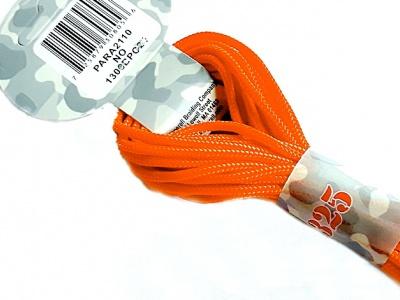 Паракорд, шнур PARA Cord 325 цвет-Neon Orange (оранжевый), толщина-3 мм., длина-6.4 метра (на 3 стандартных браслета), состав: 100% нейлон