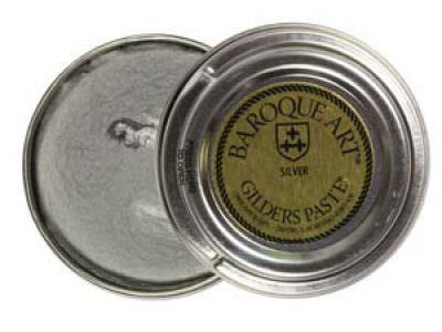 ПАСТА BAROQUE ART SILVER цвет серебро на основе воска и металл. пудры,