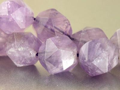 Бусина гранёная, камень-аметист натуральный, цвет-сиреневый (лавандовый), полупрозрачный, размер–1.7Х11.5 +-0.3 мм. внутреннее отверстие 1.0 мм