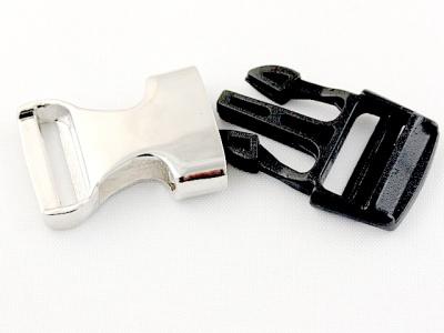 BUCKLE Застежка-пряжка комби: металл+пластик, размер: длина/ширина/толщина/отверстие-38.5/19/7/3 мм.