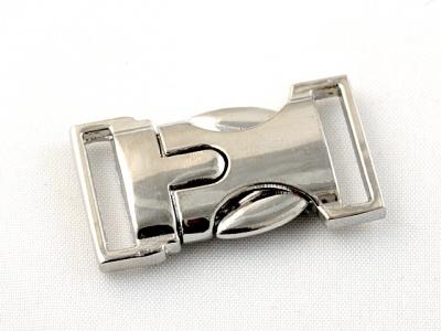 BUCKLE Застежка-пряжка декоративная серебристая, размер: длина/ширина/толщина/отверстие-33/18/6/3 мм. Застежка изготовлена из металлического сплава с покрытием цвета серебра