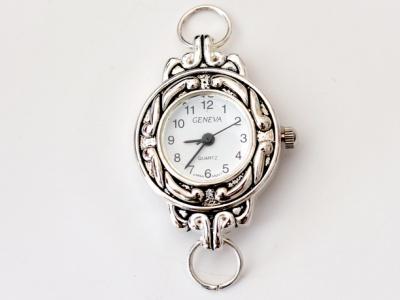 Кварцевые часы HARMI, цвет корпуса серебристый, цыферблат белый, длина 35 мм. ширина 24 мм. отверстие для ремешка или браслета 2 мм.