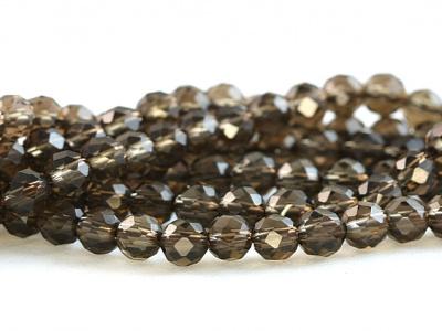 Бусины-раух топазкамень натуральный  бусины огранённый круглые.