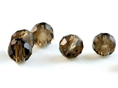 Бусины- раух топаз камень натуральный (дымчатый кварц) бусины огранённый круглые.