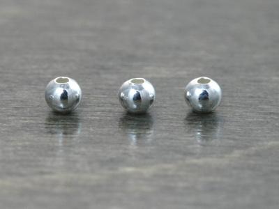 Бусина из стерлингового серебра, форма шарик, размер-3 мм.