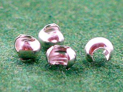 Бусина на кримп 3 мм. из серебра используется для декоративного закрытия кримпа
