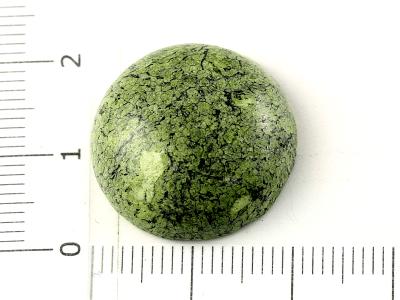 Круглый кабошон полированный, из камень-змеевик (имитация), для изготовления кулонов в украшениях Handmade.