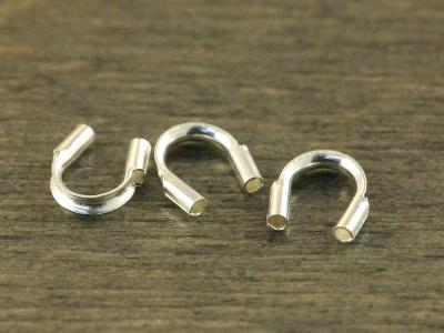 Протэктор из серебра для тросика или нити с сечением не более 0.85 мм. материал-серебро 92.5 % Sterling Silver,