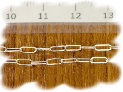 Цепочка паяная серебряная, материал: Sterling Silver (серебро 925 пробы) средняя, для создания украшений,